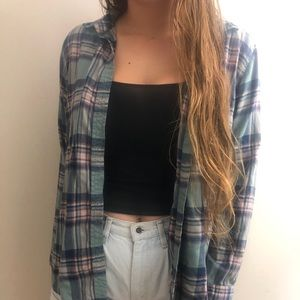 Cozy Green and Purple Flannel